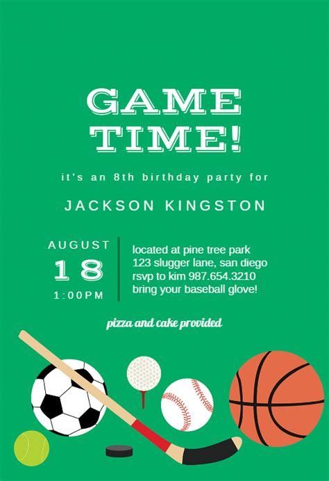 multi sports sports games invitation template