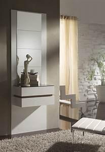 Meuble Entree Blanc : meuble d entree moderne oslone ~ Teatrodelosmanantiales.com Idées de Décoration