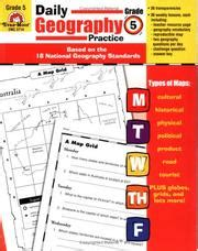Daily Geography Practice Grade 5 (june 2004 Edition)  Open Library