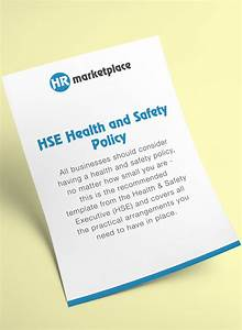 Hse Health And Safety Policy Template HSE Health And Safety Policy HR Marketplace A One Stop Shop For All Your HR Requirements