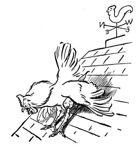 rooster  wind rooster coloring page  printable