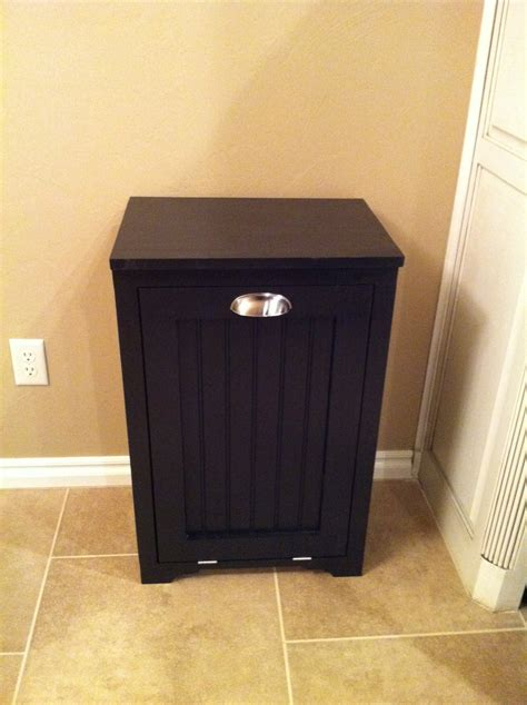 cabinet trash can white trash can cabinet w bead board insert diy