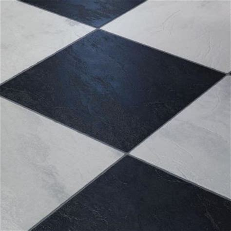 white laminate flooring home depot innovations black and white chess slate 8 mm thick x 11 3 5 in wide x 46 1 4 in click lock
