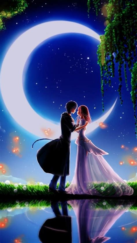 3d Wallpapers Boys by And Boy In Moonlight 3d Wallpaper