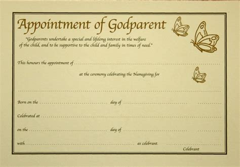 Godparent Certificate Template by Godparent Certificate Template 28 Images Godparent