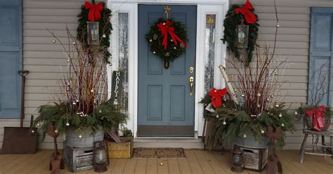 dressed   front porch  christmas