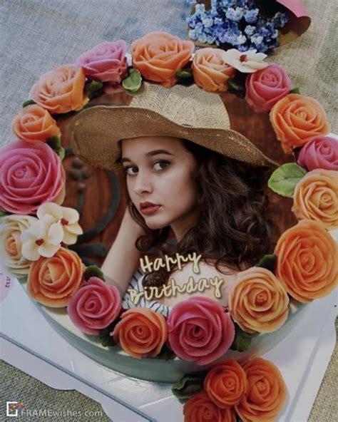 happy birthday cake  photo editor