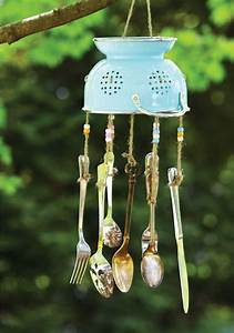 Craft this unique wind chime out of old kitchen utensils ...