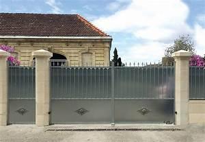 Gond Portail Fer : brise vue bois portail coulissant pour portail gond ~ Premium-room.com Idées de Décoration