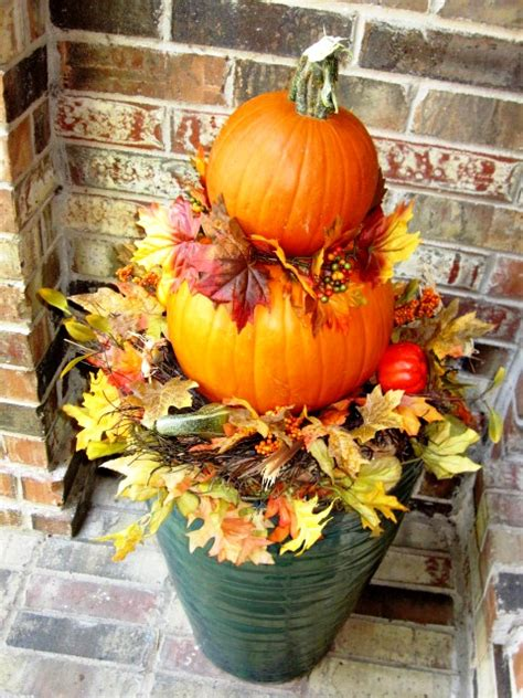 Home Star Staging Fall Decorating Idea Pumpkin Topiaries