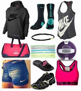 Volleyball practice outfit ~via polyvore | Volleyball | Pinterest | Volleyball Nike and Outfit