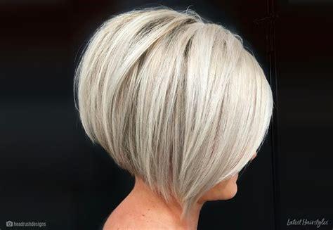 hottest short stacked bob haircuts    year