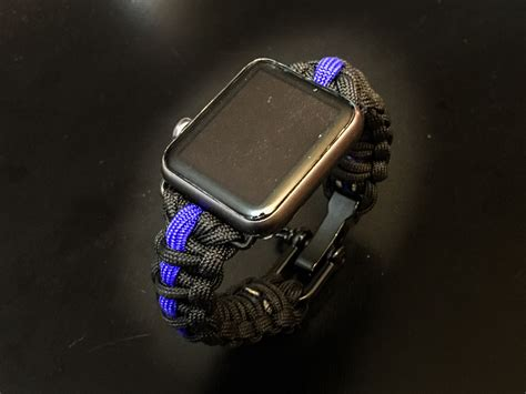 apple  paracord band thin blue  style police