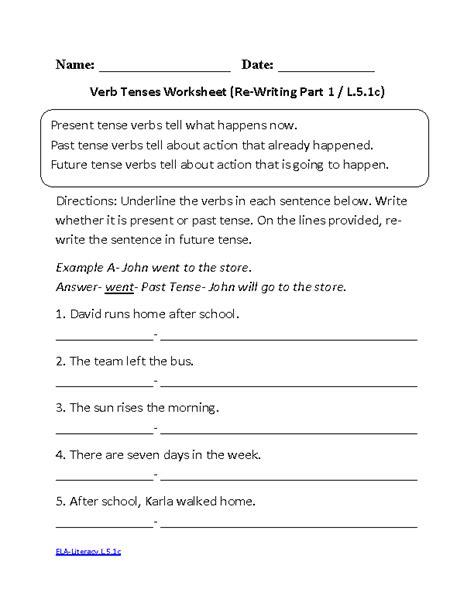 present tense verbs worksheets 4th grade present tense