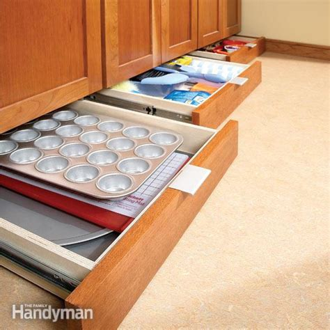kitchen cabinet storage drawer how to build cabinet drawers increase kitchen 8691