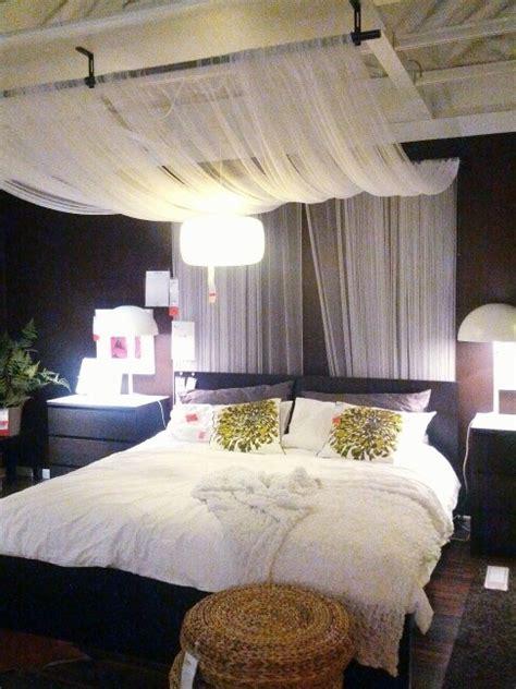 ikea bedroom design drape sheer fabric panels from
