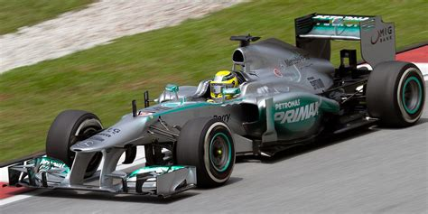 The mercedes f1 w04 (originally known as the mercedes amg w04) is a formula one racing car designed and built by the mercedes team for use in the 2013 season. Mercedes F1 W04 — Вікіпедія