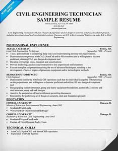 civil engineering technician resume resumecompanioncom With sample resume of a civil engineer