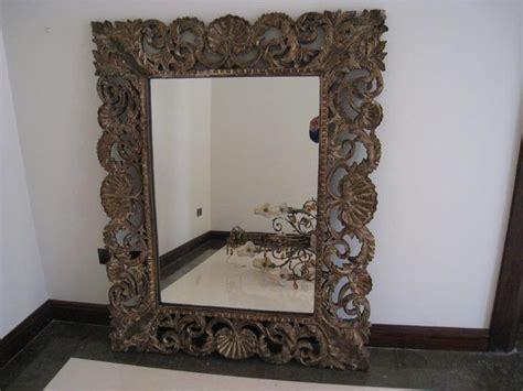 floor mirror dubai dubizzle dubai home decor accents large wooden carved mirrors 2 nos size 150cm x 120cm
