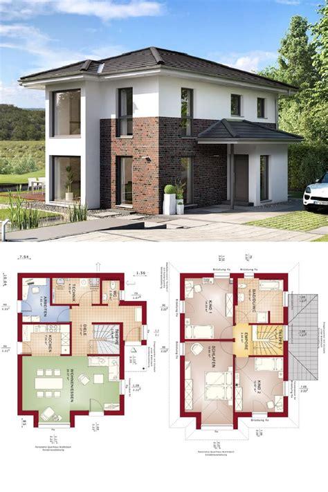 Haus Grundriss Modern by Stadtvilla Modern Mit Klinker Putz Fassade Haus