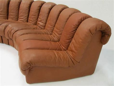 canapé de sede sofa de sede ds 600 douze éléments en cuir havane