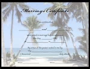 Free Printable Marriage Certificate Templates