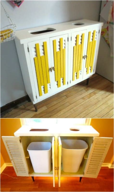 diy home recycling bins    organize