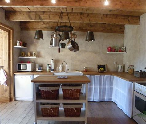 armoire rideau bureau cuisine de cagne photo 2 4 cuisine ouverte sur le