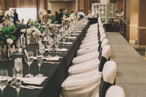 black white gold wedding with glitter details in newport inside weddings