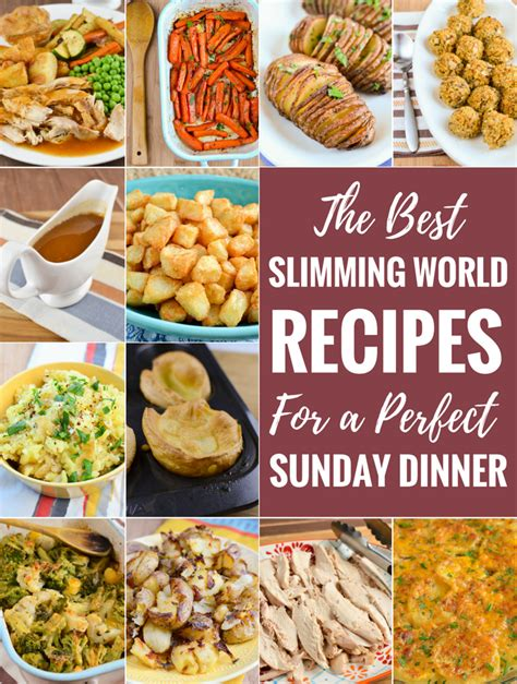 recipes for a sunday dinner slimming eats sunday dinner slimming world recipes