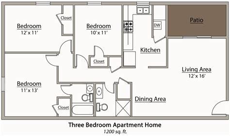 26 Decorative 3 Bedroom Apartment Plan  House Plans 87223