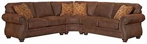 Broyhill furniture laramie 3 piece wedge sectional sofa for 3 pieces sectional sofa