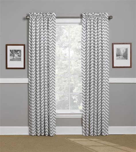 Grey And White Chevron Curtains by Gray Chevron Curtains Window Treatments American Made