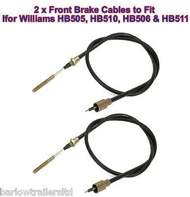 ifor willliams brake cables 2 for hb511 hb510 hb505 hb506 front axle p0142 ebay