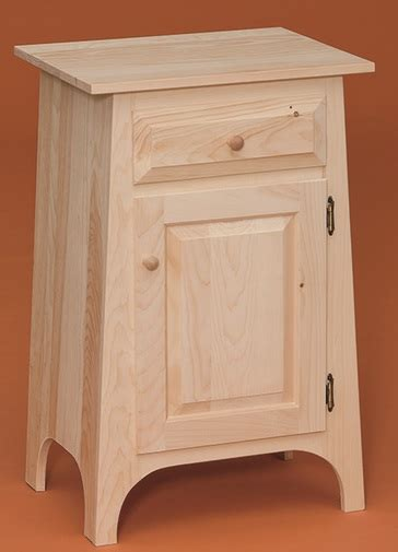 small hall cabinet  drawer stark wood unfinished