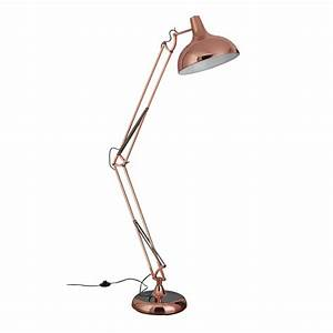 Copper giant retro floor lamp for Giant floor lamp copper