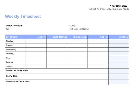images  printable monthly time sheets