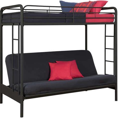 futon bunk bed futon metal bunk beds