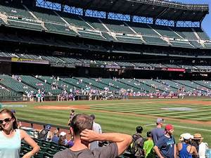 At T Park Seating Chart With Rows And Seat Numbers Section 120 At T Mobile Park Seattle Mariners