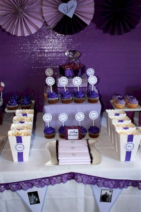 28 Beautiful Purple Party Theme Design For Wedding