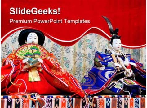 japanese doll beauty powerpoint templates  powerpoint