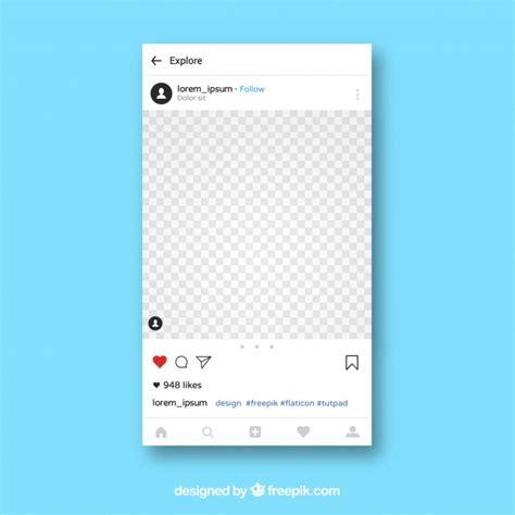 Instagram Template Instagram App Template Vector Free