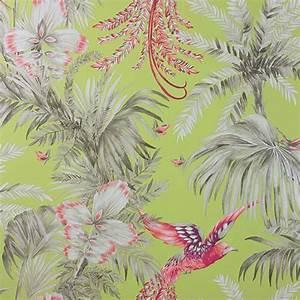 Papier Peint Fleuri Vintage : bird of paradise papier peint matthew williamson loulou jasmin ~ Melissatoandfro.com Idées de Décoration