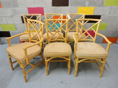 Ficks Reed Chippendale Chairs by Set Of 6 Ficks Reed Rattan Chairs Sold On Sale