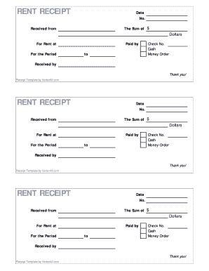 fillable rent receipt form vertex42 fax email