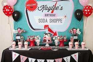 A Retro Soda Shoppe Birthday Party - Anders Ruff Custom