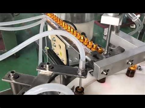 automatic  ml glass dropper small bottle eye drop vial  liquid filling capping machine