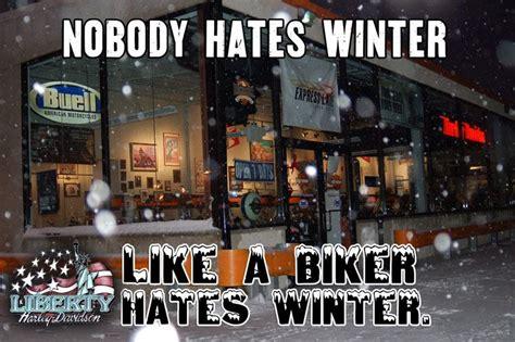 Nobody Hates Winter Like #bikers Hate #winter