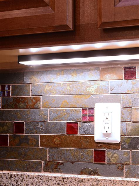 brazilian rusty slate subway glass backsplash tile