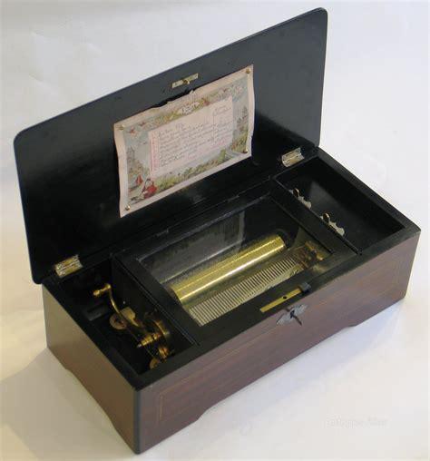 4.75 h x 11.75 w x 6 d. Antiques Atlas - Swiss Cylinder Musical Box